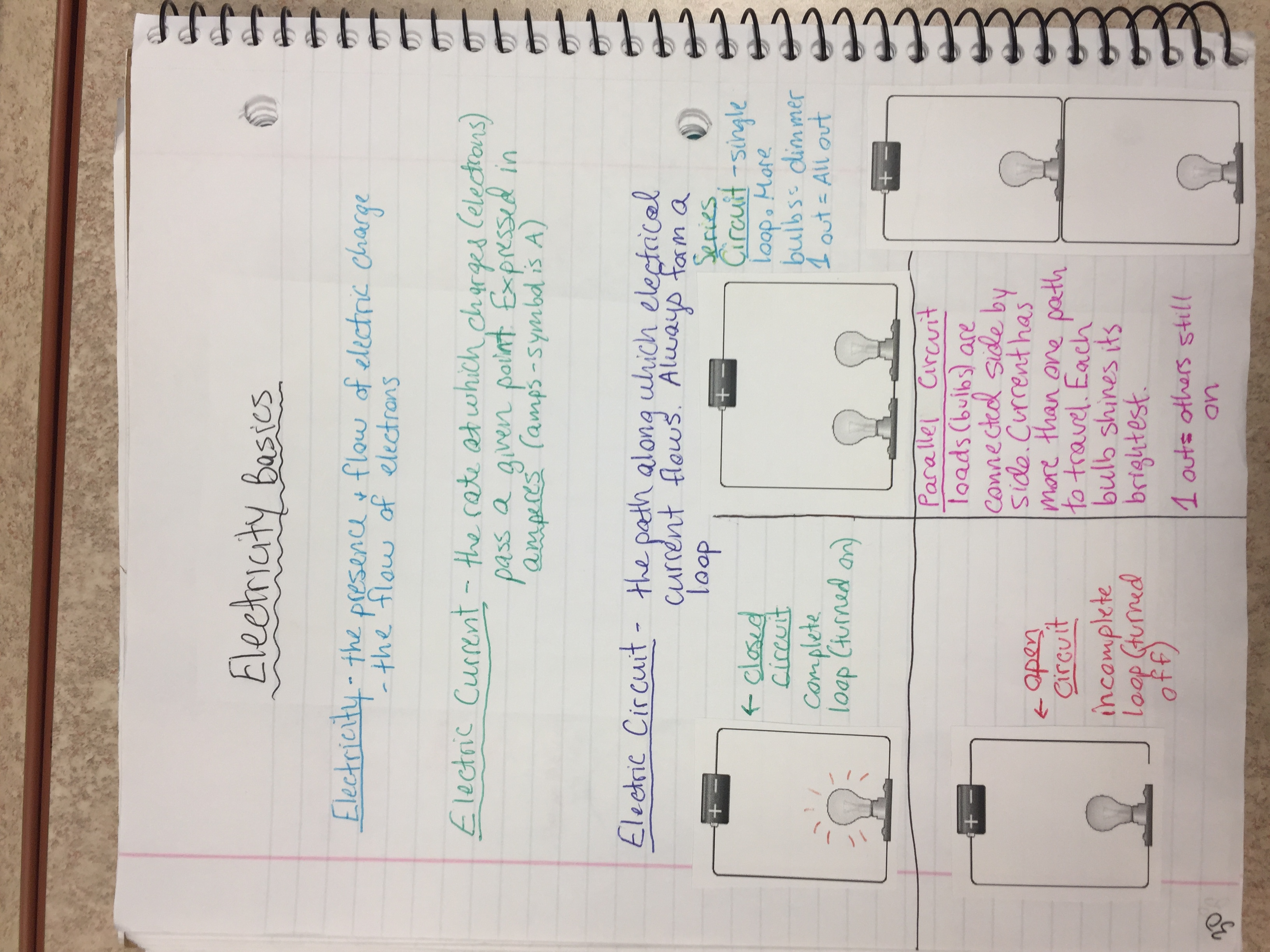 Unit 5 Electricity And Magnetism Ms Bushs Website Electronic Circuit Basics Notebook Page 30